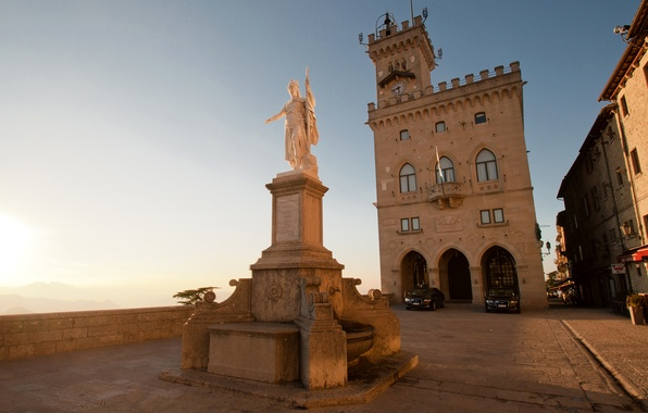 Picture watch, tower, area, monument, sculpture, architecture, San Marino