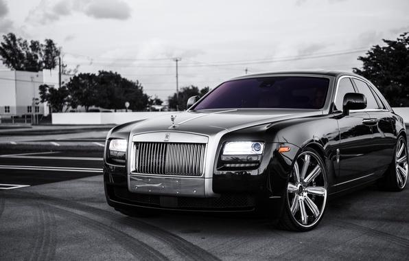 Picture black, Rolls Royce, Ghost, black, rolls Royce