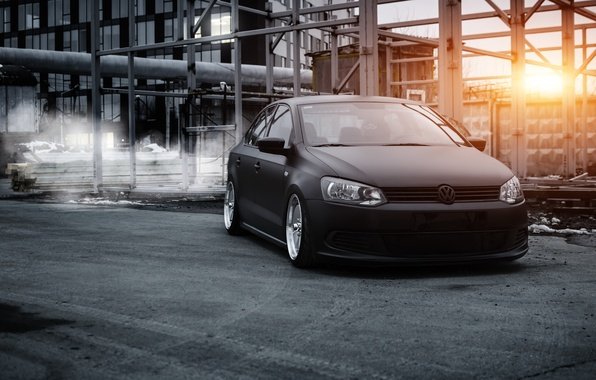 Picture volkswagen, polo, stance, bagged, airlift, polosedan, polosedan