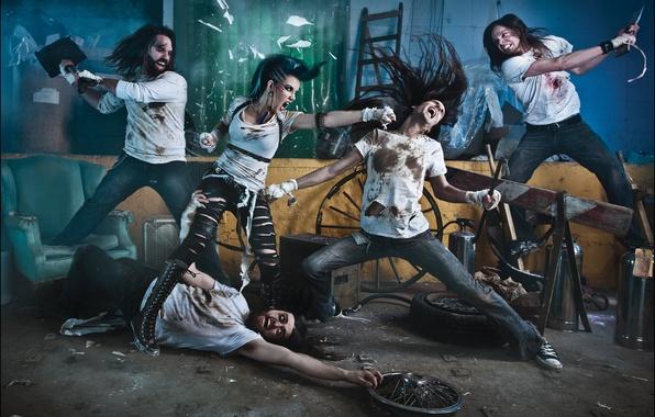 Picture group, metal, metal, band, death, metalcore, deathcore, metalcore, melodic, Danny Marino, the agonist, Alissa White-Gluz, …
