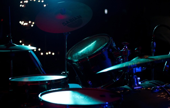 Picture macro, lights, scene, blur, devices, sound, concert, drums, hall, tool, colorful, drum, installation, shock, music, …