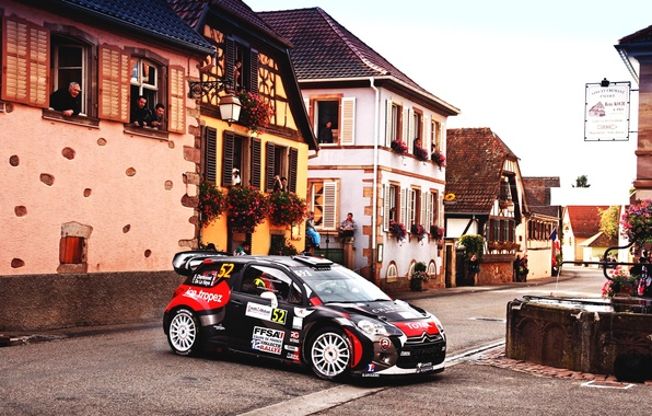 Picture Black, The city, Sport, Machine, People, Turn, Citroen, DS3, WRC, Rally, Rally