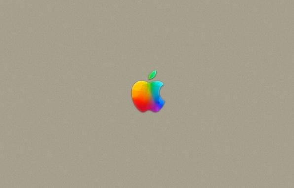 Picture gold, apple, logo, mac