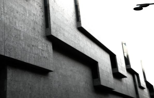 Picture grey, Cuba, corners, the building