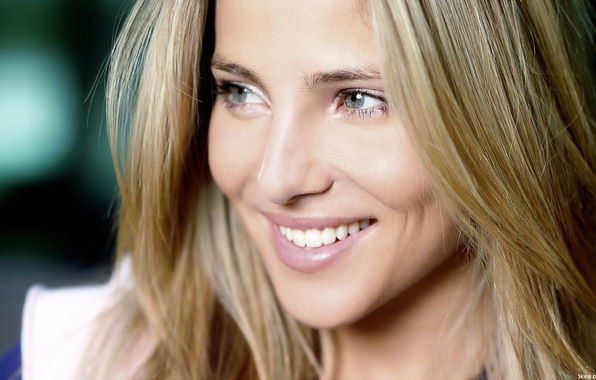 Picture eyes, girl, face, smile, hair, actress, blonde, Elsa Pataky, Elsa Pataky