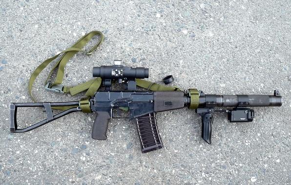 Picture asphalt, weapons, cartridge, strap, Machine, sight, shop, arm, muffler, destruction, the handle, butt, laser, shooting, …