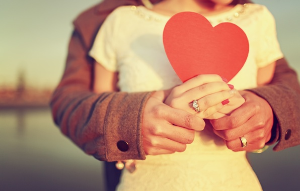 Picture love, Girl, pair, guy, relationship, heart