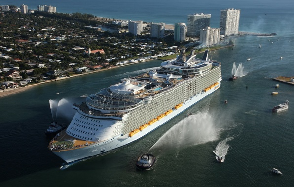Picture sea, ship, liner, oasis, cruise