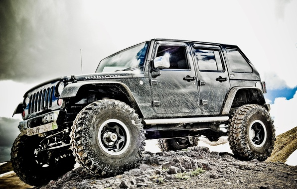 Picture dirt, jeep, wheel, suspension