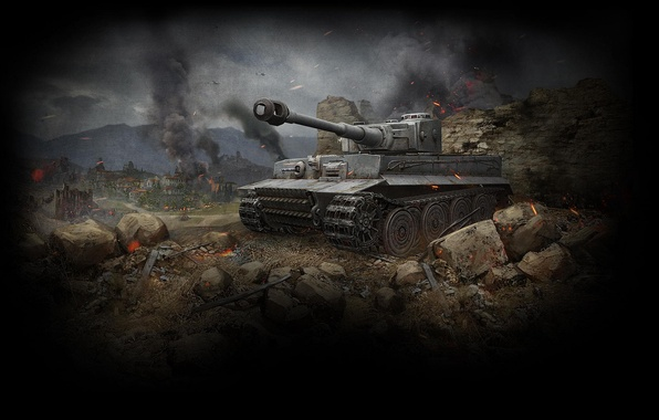 Picture Tiger, Tank, Tiger, WoT, World of Tanks