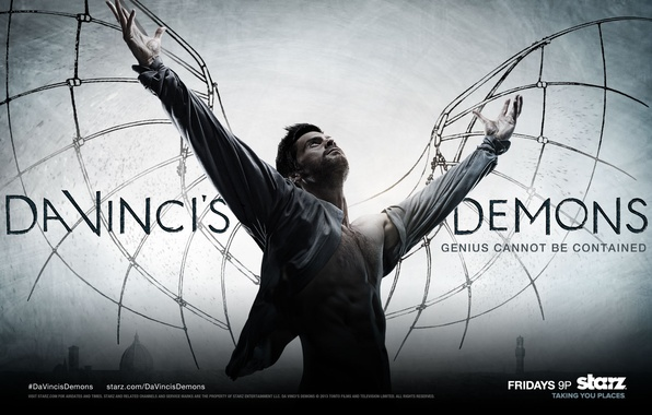 Picture wings, the series, serial, da Vinci's demons, starz, genius cannot be contained, da vinci's demons, …