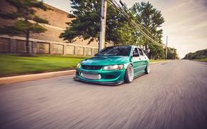 Picture car, tuning, in motion, tuning, Mitsubishi, evo 8, mitsubishi lancer