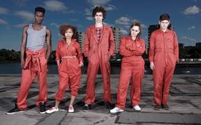 Picture the sky, Wallpaper, wallpaper, the series, superheroes, bad, misfits, scum, losers, superpowers, Lauren Socha, Ivan ...