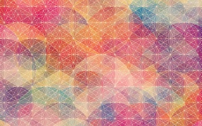 Picture line, mesh, pattern, color, geometry