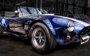 Picture Cobra, Cabrio, Classic Car, Blue