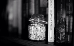 Picture stars, background, widescreen, black and white, Wallpaper, mood, star, books, blur, tape, Bank, shelf, wallpaper, …