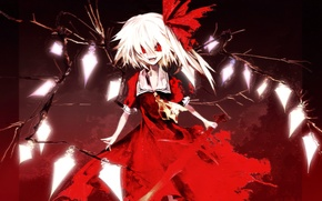 Picture girl, sword, anime, touhou