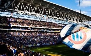 Picture wallpaper, sport, stadium, football, fans, Estadio Cornella-El Prat, RCD Espanyol