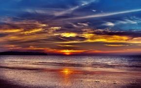 Picture sea, sunset, thailand