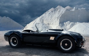 Picture black, roadster, sports car, AC Shelby Cobra