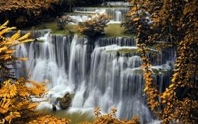 Picture photo, Nature, Autumn, Waterfalls