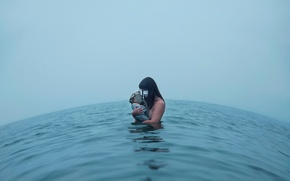 Picture girl, doll, the suit, in the water, Lichon, Meaningless is meaningful