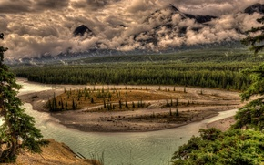 Picture river, landscape, mountains