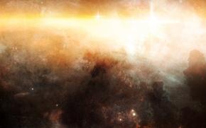 Picture light, nebula, star cluster, interstellar gas