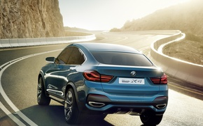 Picture road, Concept, BMW, the concept, rear view