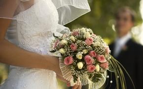 Picture flowers, wedding, the bride, decor, bouquet