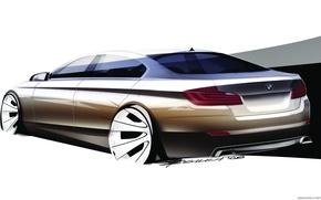 Picture car, machine, BMW, sketch