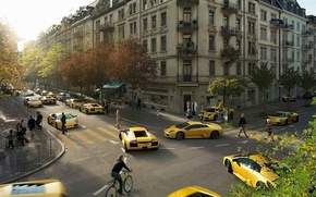 Wallpaper Lamborghini, 149, yellow, Clones