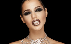 Picture look, face, model, hair, teeth, makeup, lips