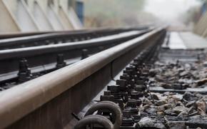 Picture metal, track, railroad track