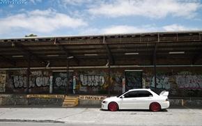 Picture white, redwheels, Mitsubishi Lancer Evolution IX
