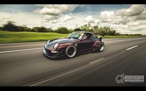Picture speed, track, 911, Porsche, turbo, Porsche