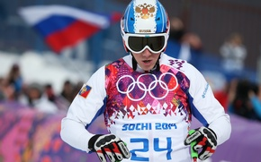 Picture flag, glasses, helmet, Russia, coat of arms, RUSSIA, Sochi 2014, The XXII Winter Olympic Games, ...