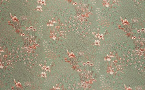 Picture flowers, wall, Wallpaper, pattern, ruffle, fabric, silk, smoothness, textiles