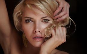 Picture eyes, look, girl, blonde