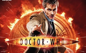 Picture look, fire, flame, logo, costume, actor, symbol, male, emblem, coat, Doctor Who, Doctor Who, BBC, ...