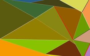 Picture colored, triangles, figure, geometric
