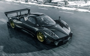 Picture Pagani, Car, Race, Speed, Zonda R, Track, Spoiler