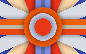 Picture Orange, Android, Blue, Design, 5.0, Line, Colors, Lollipop, Stripes, Abstraction, Circle, Material
