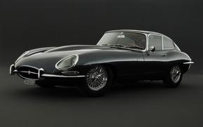 Picture retro, sports car, jaguar, e-type