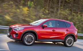 Picture road, speed, mazda, crossover, suv, CX-5