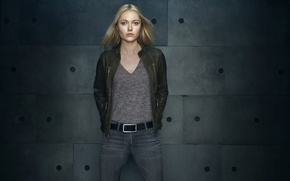 Picture jeans, blonde, actress, jacket, Georgina Haig