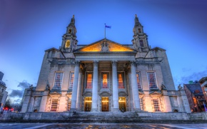 Picture night, UK, United, Leeds, Kingdom, Civic Hall