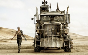 Picture Charlize Theron, truck, Charlize Theron, the front, tractor, Mad Max, Fury Road, Mad Max, this …