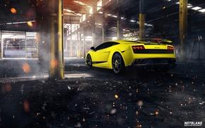 Picture machine, Lamborghini, hangar, Superleggera, Gallardo, auto, LP 570-4, notbland, Webb Bland