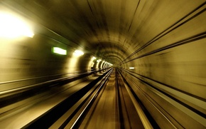 Picture metro, speed, the tunnel